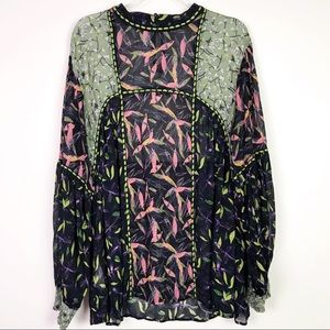 Anthropologie Bl-nk London Print Top